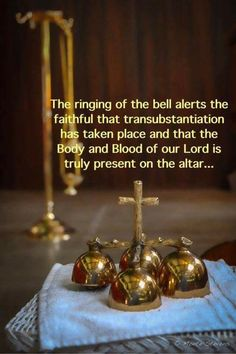 """I always tell my kids even as babies when the bells ring, """"Jesus is here! Jesus loves you!"""" This I carry since my altar boy years of service to the Holy Trinity. Catholic Beliefs, Catholic Mass, Catholic Quotes, Catholic Prayers, Roman Catholic, Catholic Traditions, Catholic School, Catholic Saints, Holy Mary"""