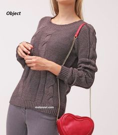 Вязаный пуловер спицами от Object http://mslanavi.com/2016/03/vyazanyj-pulover-spicami-ot-object/
