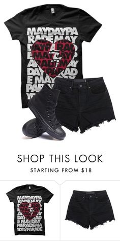 """Untitled #561"" by bands-are-my-savior ❤ liked on Polyvore featuring T By Alexander Wang and Converse"