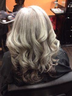 wavy hair. beautiful 100 gray