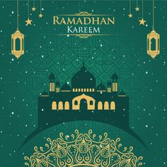Ramadhan kareem of the green background Eid Banner, Eid Mubarak Banner, Eid Mubarak Background, Eid Mubarak Wishes, Happy Ramadan Mubarak, Ramadan Wishes, Ramadan Greetings, Poster Ramadhan, Wallpaper Ramadhan