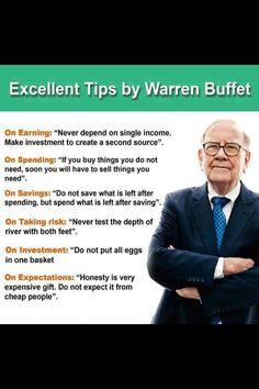 Warren Buffet'tan Tavsiyeler