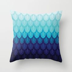 Arctic Ombre! Throw Pillow #arctic #ombre