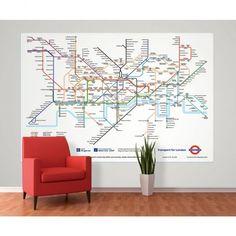 Details about london underground tube map designer for Decor mural underground