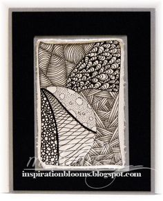 Zentangle Inspired Card 3 by istamp31 - Cards and Paper Crafts at Splitcoaststampers