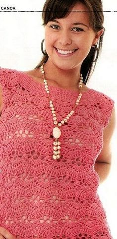 Simple Sleeveless Crochet Top. More Great Patterns Like This