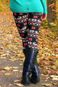 Floral & Tribal - Best Christmas leggings I think. #christmas #leggings www.loveitsomuch.com