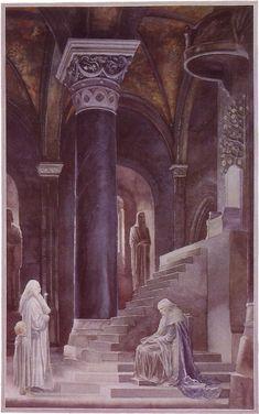 The Lord of the Rings - Alan Lee Art - Denethor, Steward of Minas Tirith
