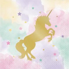 Pastel and Gold Foil Unicorn Sparkle Party Napkins/ Unicorn Party Napkins/ Pastel Unicorn Party Party Unicorn, Unicorn Party Supplies, Unicorn Art, Unicorn Birthday Parties, Unicorn Fantasy, Magical Unicorn, Pink Unicorn Wallpaper, Unicorn Backgrounds, Party Napkins