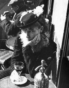 Drinking Alone at a Parisian Café ~ 1935 ~ from LIFE magazine ~