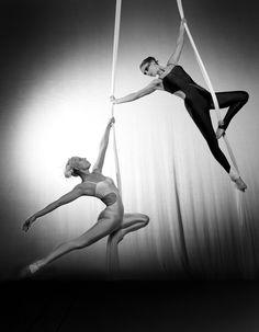 tandem aerial silks