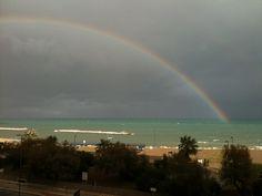 Bari, Pane e Pomodoro. Vista con arcobaleno!