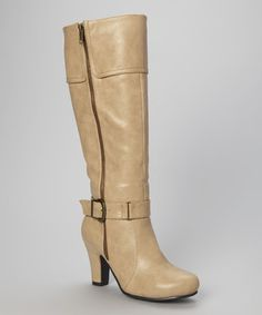 Another great find on #zulily! Nude Leah Boot by Chase & Chloe #zulilyfinds