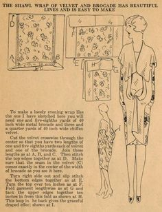 Home sewing tips, 1920s. (TAG: DO IT YOURSELF INSPIRATION;PATTERN; TUTORIAL; PUBLIC DOMAIN)