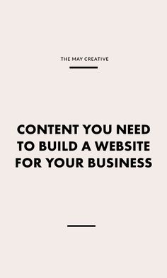 Creating a website takes time and planning especially as a business owner. Having an online presence beyond social media is essential for building your credibility and forming a deeper connection with your audience. There are some key components that need to be in place to build a website for