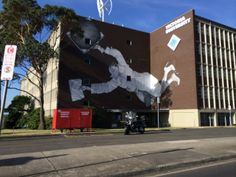 Street art on the walls of Victoria Uni, Melbourne (March 2014)