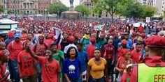 Church Square, Pretoria. Anti-Zuma protest. 12-04-2017