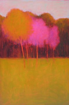 Tracy Helgeson - Bright Trees very Wolf Kahn