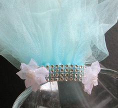 Bachelorette party Veil, soft aqua bachlorette veil  hen party veil, turqouise bacelorette veil, shower veil, bridal shower accessory, pink by SuspendedStar on Etsy