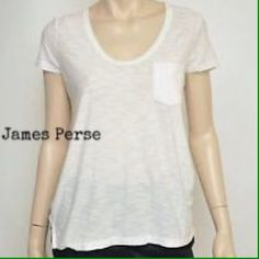 James Perse White Pocket Tee Shirt, size  L, XL Super soft white cotton pocket t-shirt from James Perse. These tees need no introduction. They are so well known for their softness and go everywhere, with everything style. Available in 2(medium/large), 3 (large/extra large).  Can provide measurements. James Perse Tops Tees - Short Sleeve