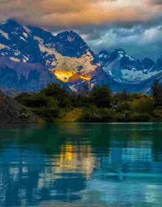 Blue Lake, Patagonia, Argentina- all I need is a goos Malbec to go with it...