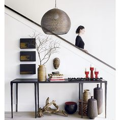 I saw this Silviano Console Table at Crate and Barrel and want a foyer to put it in - it's beautiful!