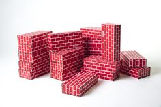 Mondo Bloxx 20 Pack Cardboard Block Brick Set (12x6x3) USA Made!