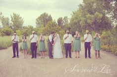 {Cute Wedding Party Pictures} | Denver Vintage Wedding Photographer | Colorado Destination Wedding Photographer