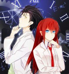 Okabe and Kurisu - さくら餅(Pixiv)