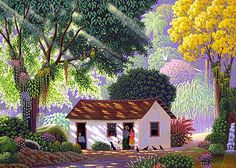 Edivaldo Barbosa de Souza (Brasil) - What a nice shiny day,art naif