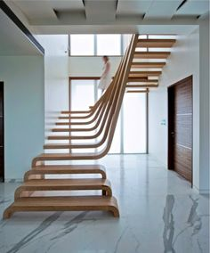 (via 25 Unique Staircase Designs To Take Center Stage In Your...