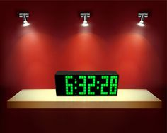 3-inch Led Clock with Countdown and Big Font is your best gift for your  parents