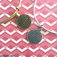 ALEX AND ANI Positive Is How I Live Charm Bangle! This CHARITY BY DESIGN Bangle supports the Joe Andruzzi Foundation!