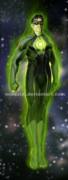 Green Lantern Kyle Rayner by *nebezial on deviantART Green Lantern Kyle Rayner, Green Lantern Hal Jordan, Green Lantern Corps, Green Lanterns, Superman, Batman, Superhero Characters, Dc Comics Characters, Comic Books Art