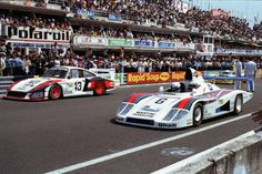 The Martini Racing Porsche System cars of Schurti/Stommelen and Wollek/Barth/Ickx ready for the start of the 1978 24 Hours of Le Mans Porsche 911 Rsr, Porsche Motorsport, Porsche Cars, Porsche Classic, Road Race Car, Le Mans Series, Sports Car Racing, Auto Racing, Classic Race Cars