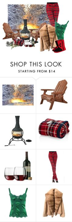 """""""Outdoor Fireplace"""" by leptismagna ❤ liked on Polyvore featuring DutchCrafters, Libbey, Dolce&Gabbana, Concept One, Winter and snowday"""