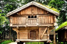 700-year-old log house in Norway