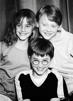 Harry Potter! they look so little and young awww