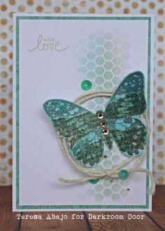 Darkroom Door: Butterfly Eclectic Stamp