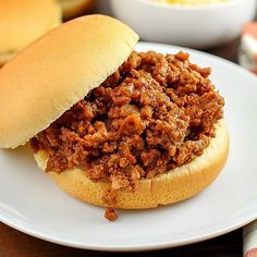 Sloppy Joes! It doesn't get easier than ground beef, (or turkey!) some spices & ketchup, thrown all in a crock pot & 4-6 hours later - dinner's served!