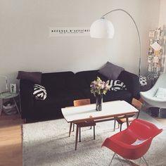 Un salon aux inspirations vintage