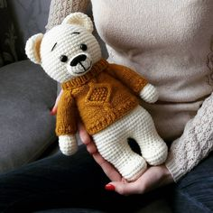 Amigurumi knitting toy recipes and models you can meet with a great web site you're aware of a click away from? Crochet Patterns Girl 'FREE pattern only in Ru Crochet Patterns Vintage Crocheted teddy bear with clothes Do it 2019 Best Amigurumi Crochet Bea Crochet Teddy, Crochet Bear, Crochet Patterns Amigurumi, Cute Crochet, Amigurumi Doll, Crochet Dolls, Crochet Bunny Pattern, Crochet Animal Patterns, Stuffed Animal Patterns