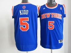 NBA New York Knicks 5 Jason Kidd Revolution 30 Blue jersey ID 16446  25 646dff895