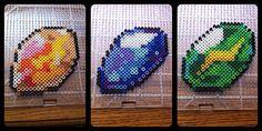 Pokemon Perler Bead Evolution stones