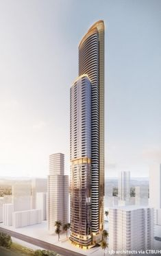 Modern Architecture Design, Commercial Architecture, Futuristic Architecture, Facade Architecture, Amazing Architecture, Online Architecture, Mix Use Building, Tower Building, High Rise Building