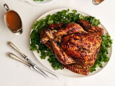 Ancho-Rubbed Turkey : Some like it hot, and this turkey does the trick. Ancho chiles and a Fresno pepper give this bird a pleasantly mild spiciness.