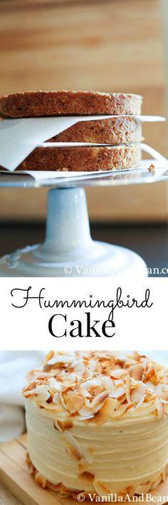 Hummingbird Cake with Lemon Cream Cheese Icing; a classic   Vanilla And Bean