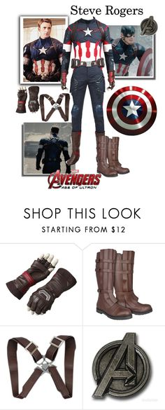 """""""Steve Rogers/ Captain America - Avengers: Age Of Ultron"""" by gone-girl ❤ liked on Polyvore featuring Marvel, Marvel Comics, men's fashion, menswear, marvel, CaptainAmerica, steverogers, mcu and AAOU"""