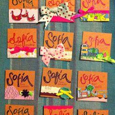 Tarjetitas para marcar regalos!