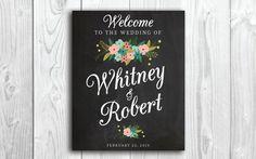 Large Custom Chalkboard Wedding Sign by RememberNovemberShop, $12.00